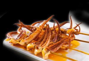 squid tentacle skewer